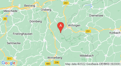 map of Langenberg (Germany)