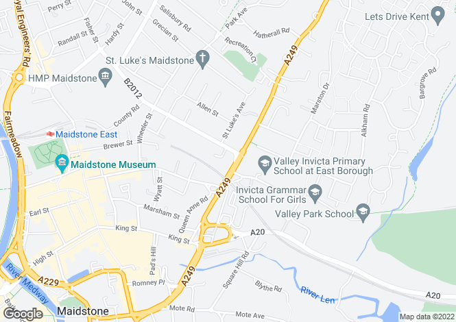 Map for Holland Road, Maidstone, Kent