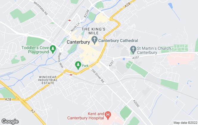 Map for Purplebricks.com, Canterbury