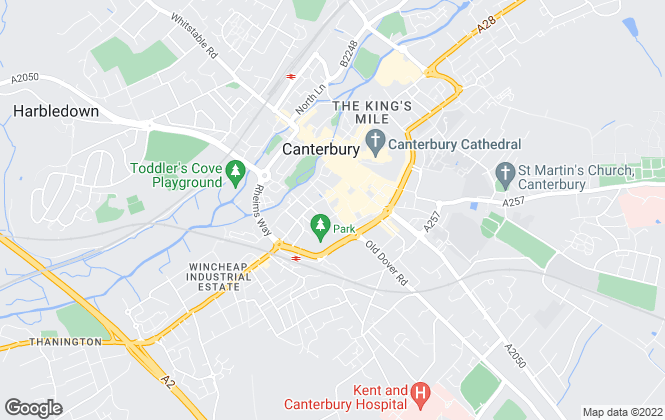 Map for Martin & Co, Canterbury - Lettings & Sales