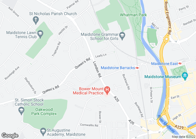 Map for London Road,