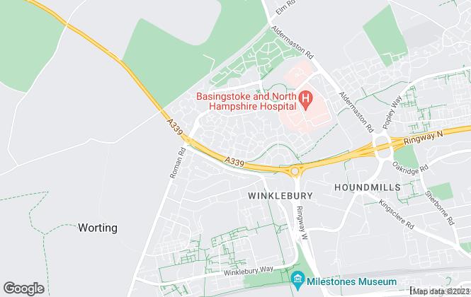 Map for Able2Let Property Management, Basingstoke