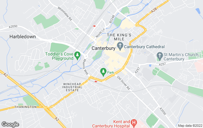 Map for Mann Countrywide, Canterbury