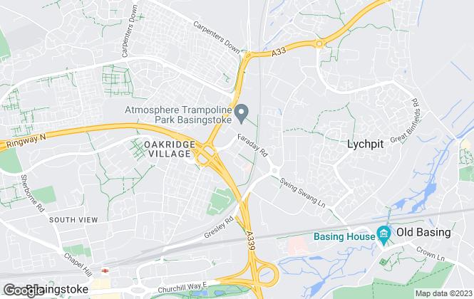 Map for Baker Davidson Thomas, Basingstoke