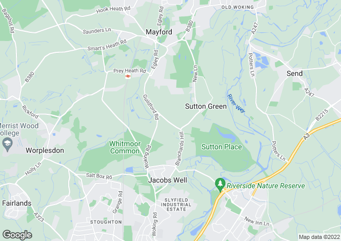 Map for Whitmoor Lane, Guildford, Surrey, GU4