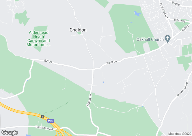 Map for CHALDON, CATERHAM