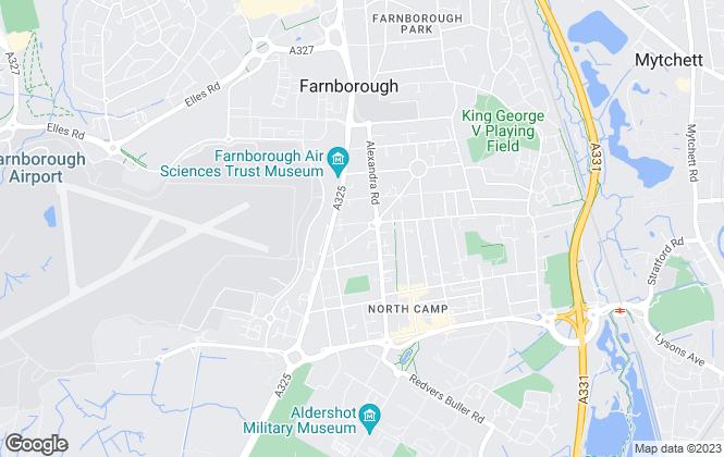 Map for Pure Offices Ltd, Farnborough