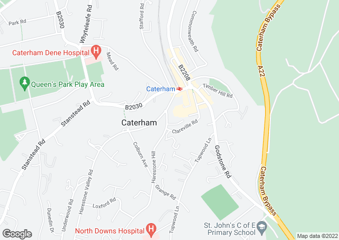 Map for Eothen Close, Caterham