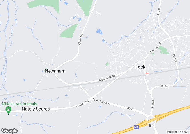 Map for Newnham Road, Hook, Hampshire, RG27