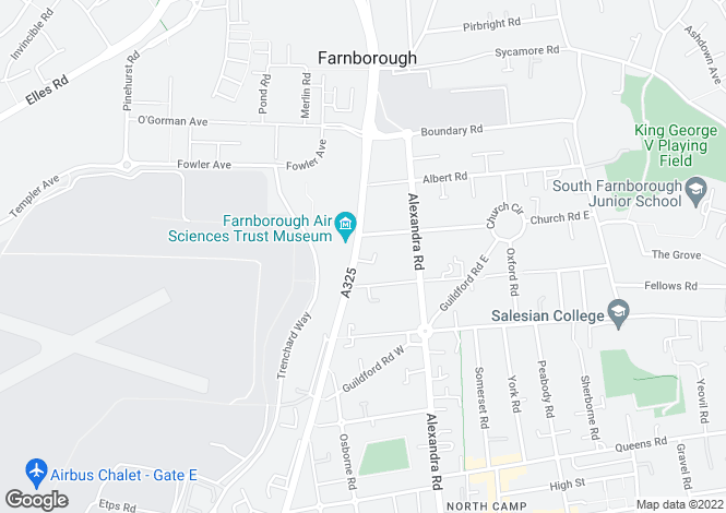 Map for Farnborough Road, Farnborough, GU14