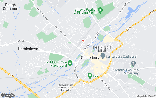 Map for Student Places Ltd, Canterbury