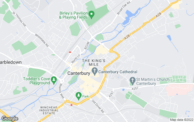 Map for Varsity Canterbury, Canterbury