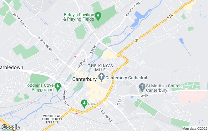 Map for Varsity Canterbury, Canterbury