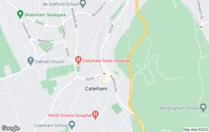 Map for Rayners Estate Agents, Caterham