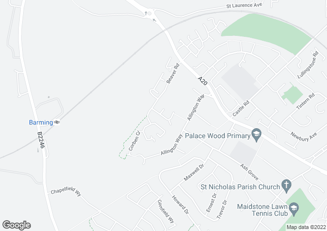 Map for Juniper Close,