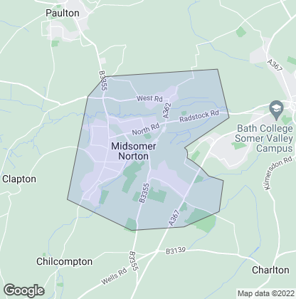 Map of property in Midsomer Norton