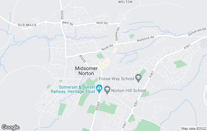 Map for Barons Property Centre Ltd, Midsomer Norton (Lettings)