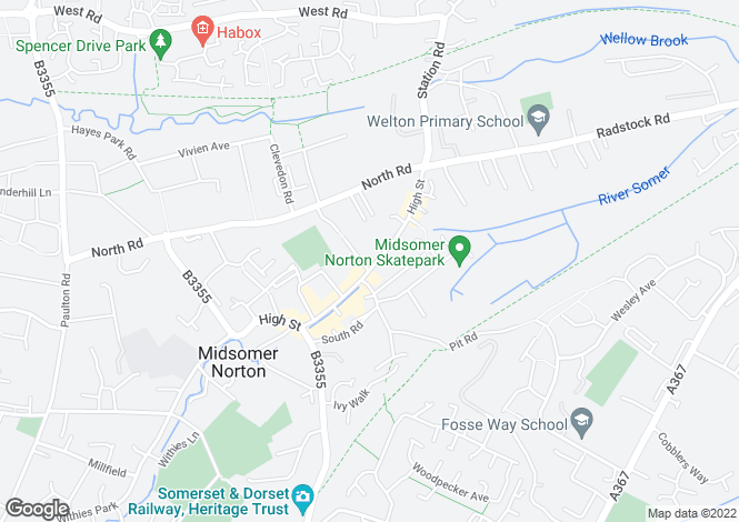 Map for High Street, Midsomer Norton