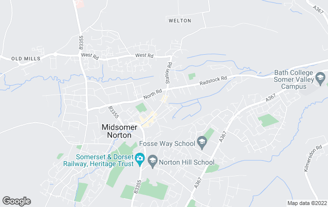 Map for Andrews Letting and Management, Midsomer Norton