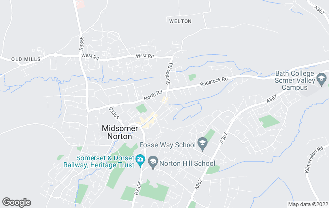 Map for Andrews Estate Agents, Midsomer Norton