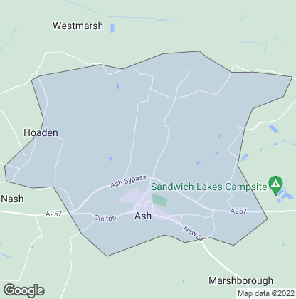 Map of property in Ash
