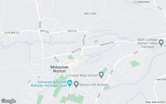 Map for YOUR MOVE Bailey & Bryant, Midsomer Norton - Lettings