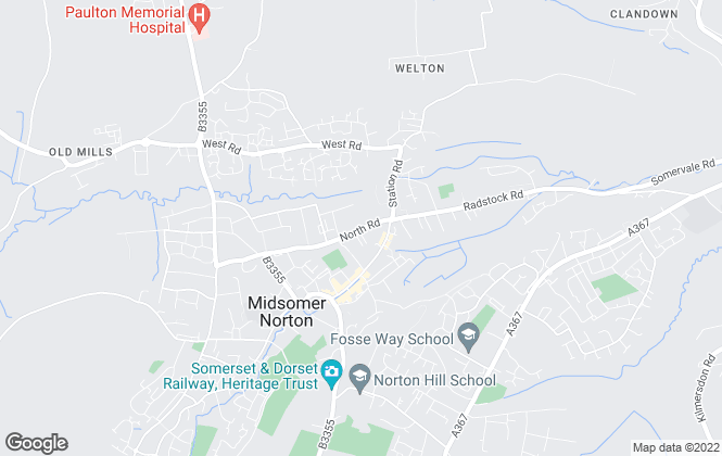 Map for Sam Chivers Estate Agents, Midsomer Norton