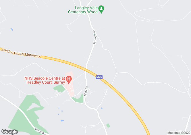 Map for Fourfield Close, Headley , Surrey, KT18