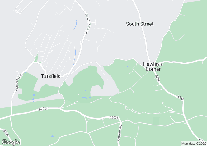 Map for Parkwood Road, Tatsfield