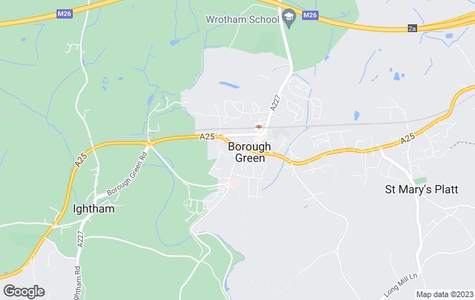 Map for Hillier Reynolds, Borough Green