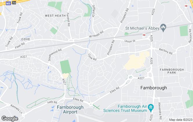 Map for Billingham Martin Ltd, Farnborough