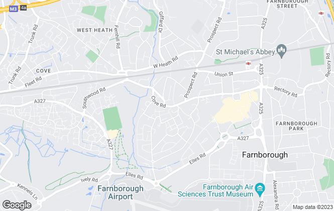 Map for Carson & Co, Farnborough
