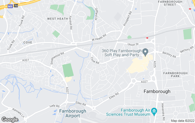 Map for Bridges Estate Agents, Farnborough