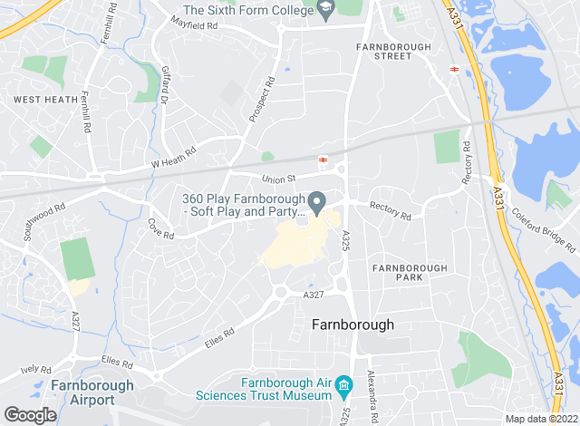 Map for Romans, Farnborough - Lettings