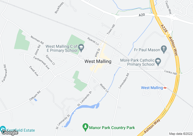 Map for High Street, West Malling, ME19