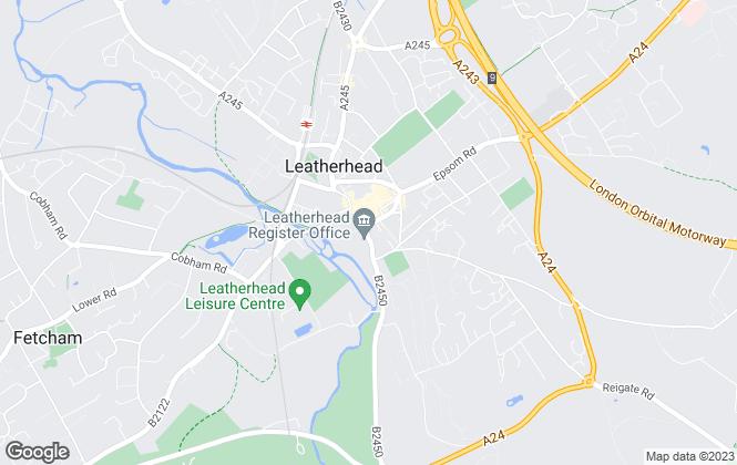 Map for Gascoigne-Pees Lettings, Leatherhead