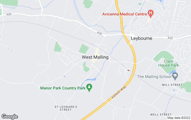Map for Ibbett Mosely, West Malling
