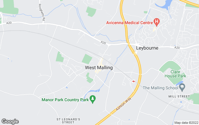 Map for Fine & Country, West Malling