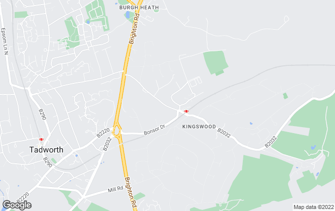 Map for Richard Saunders and Company, Kingswood