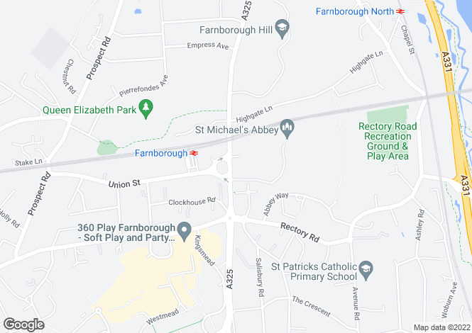 Map for Farnborough Road,