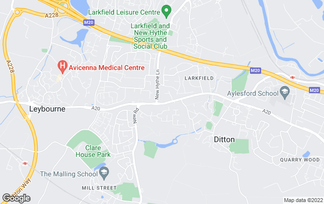 Map for Wards, Larkfield