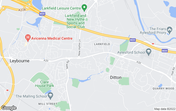 Map for Page & Wells, Larkfield