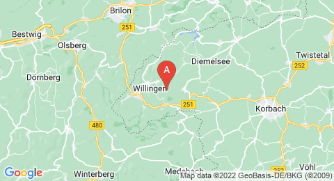 map of Sähre (Germany)