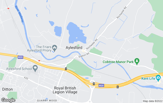 Map for Bluebell Estates , Aylesford