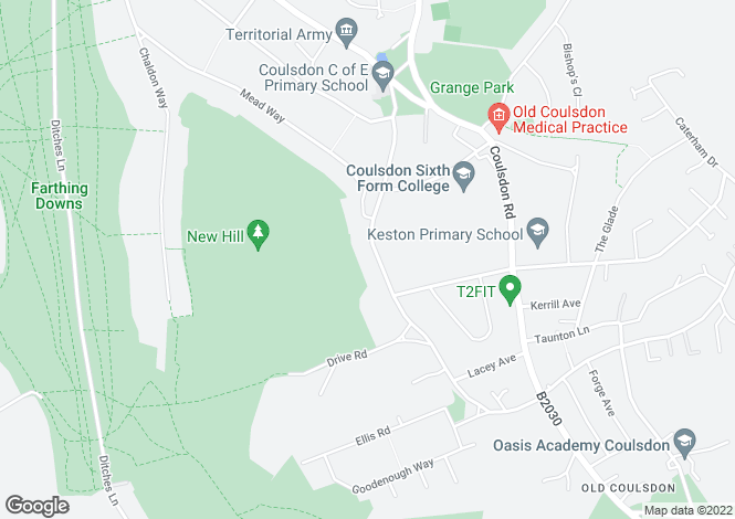 Map for OLD COULSDON