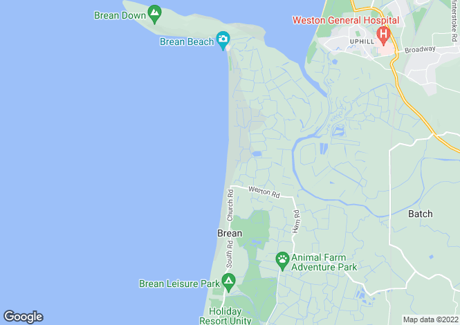 Map for BREAN, SOMERSET