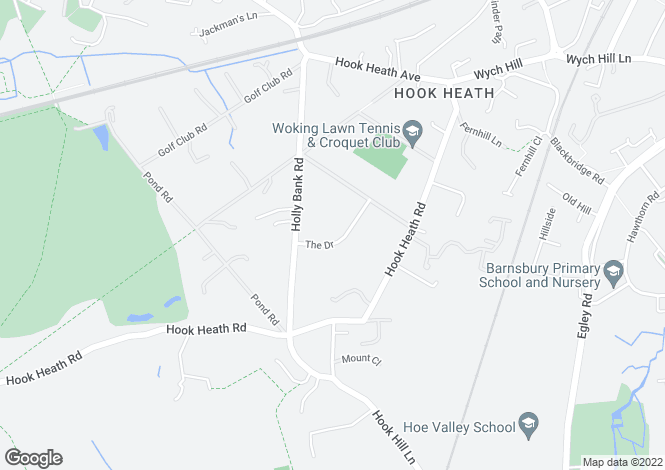 Map for Hook Heath, Woking, Surrey