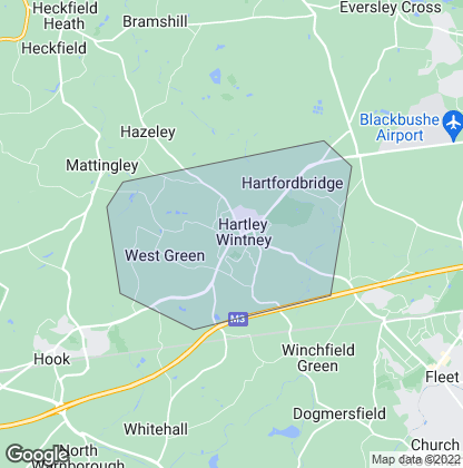 Map of property in Hartley Wintney