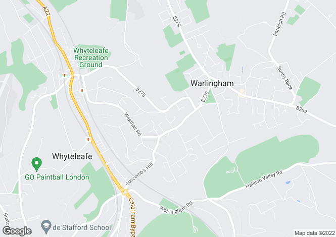 Map for Bayards, Warlingham