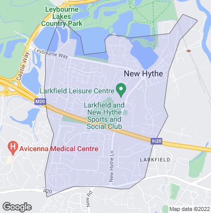 Map of property in Larkfield